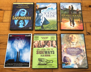 Labyrinth, The Sound of Music, The Princess Bride, Sideway, DVDs