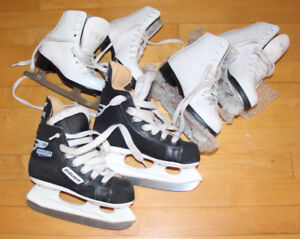 Figure Skates and Hockey Skates