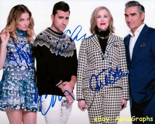 SCHITT'S CREEK.. Catherine O'Hara, Annie Murphy with Dan & Eugene Levy - SIGNED
