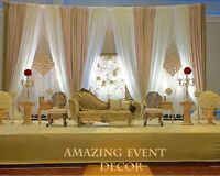 Indian Pakistani Wedding Elegant Wedding Backdrops Wedding Decor