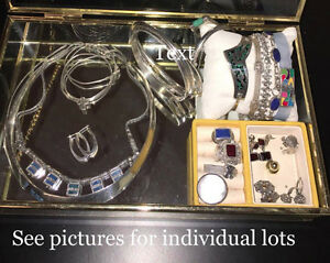 Silver, stones, jewelry sets - EXCELLENT CONDITION