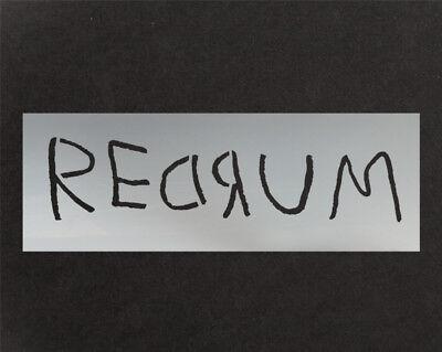 Redrum Murder Malen Dekoration Zeichen Perfekt Stempel (Halloween-schablone)
