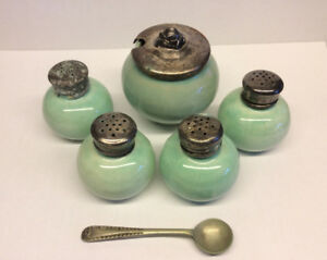 FORBES plate small pot and mini shakers