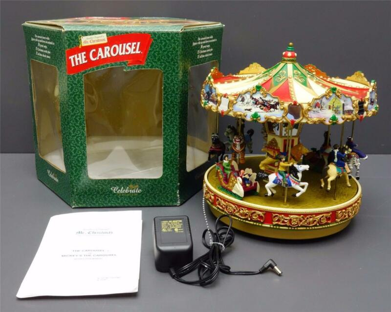 Mr Christmas Animated Musical CAROUSEL 30 Songs Carols Classics Celebrate Season
