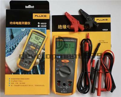 Fluke Digital Megger Insulation Resistance Tester Meter F1503 1503