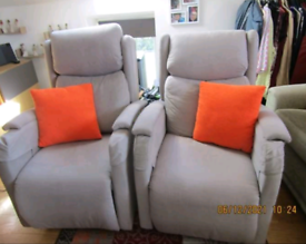 Matching pair rasing recliner mobility armchairs