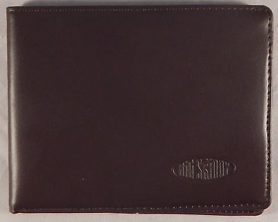 Big Skinny Mens Super Skinny Leather Bi-Fold Slim Wallet, Brown - Free Ship