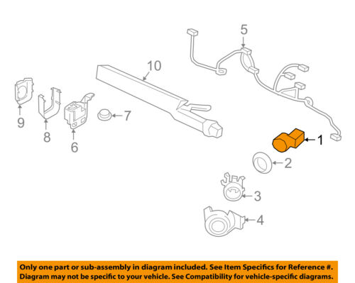 FORD OEM Parking Backup Back Up Reverse Distance-Sensor 2L1Z15K859AA