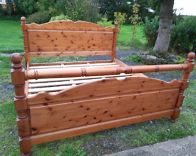 Super king- pine bed in very good condition