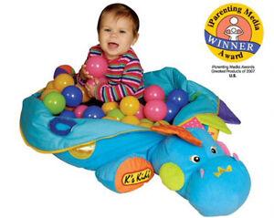 Dino Playcentre with balls-Toddler baby blue plush dinosaur Windsor Region Ontario image 2
