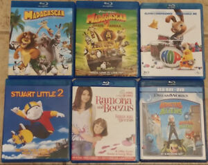 6 Assorted Movies Blue Ray DVD's