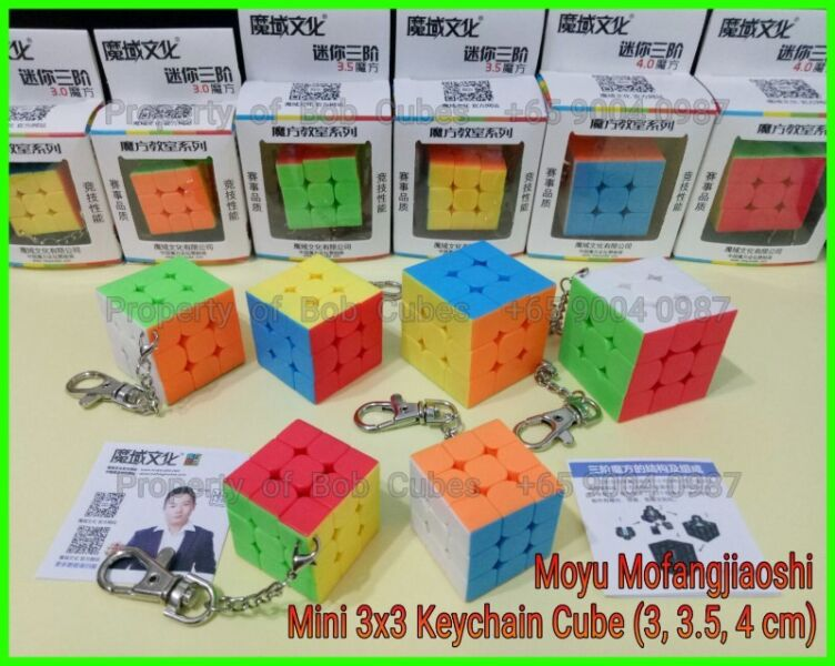 - Mofangjiaoshi Mini 3x3 Keychain (3 cm, 3.5 cm, 4 cm) for sale ! Brand New   !