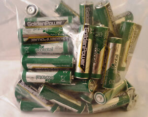 Qty 50 of AA Batteries Heavy Duty Goldenpower Tested >1.5V