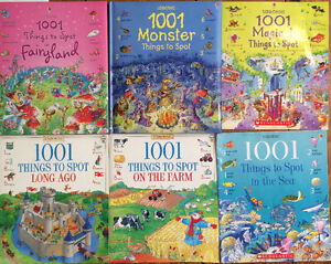 USBORNE 1001 THINGS TO SPOT $3 each or all 6 for $15