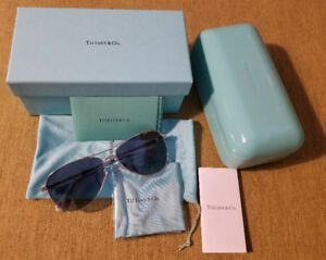 Tiffany sunglasses TF3044 silver/blue Brand new with box