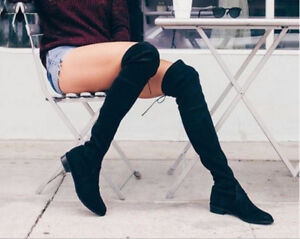 Suede Over the Knee Thigh High Boots size 7.5 (small heel)