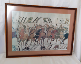Large print of a scene from the Bayeux Tapestry