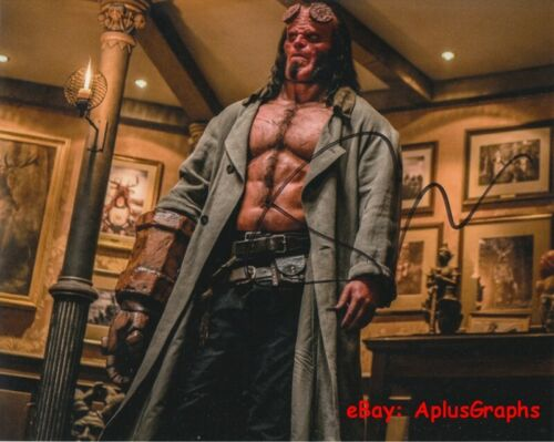 DAVID HARBOUR.. Supernatural Superhero: Hellboy (2019) SIGNED