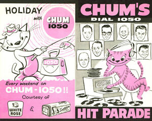 Buying CHUM HIT PARADE CHARTS from radio station 1050 CHUM Kitchener / Waterloo Kitchener Area image 1