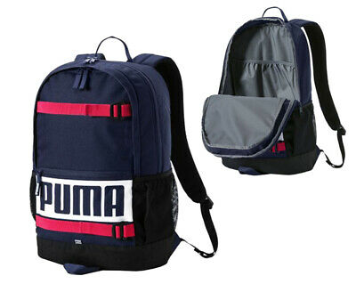Puma Deck Backpack Rucksack Bag 24L Unisex Peacoat 074706 10 A8A