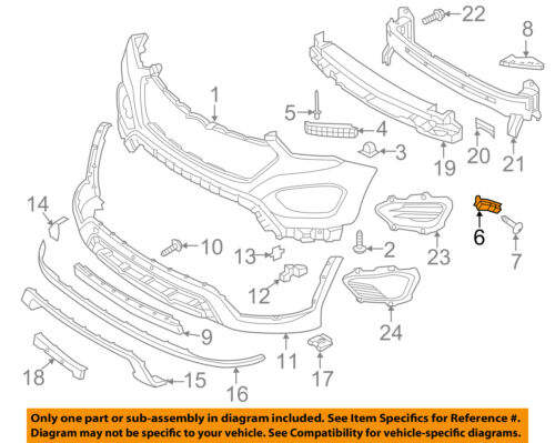 HYUNDAI OEM Santa Fe Front Bumper-Bumper Cover Side Bracket Left 865152B000