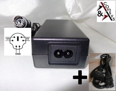 Netzteil 12V 5V 2A für diverse externe Festplatte DVD CD Gehäuse Case 6Pin #L