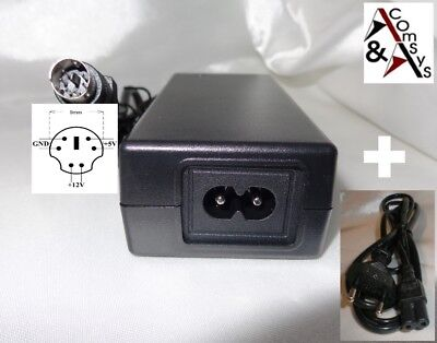 Netzteil 12V 5V 2A für externes Gehäuse Festplatte HDD CD DVD 6Pin #U