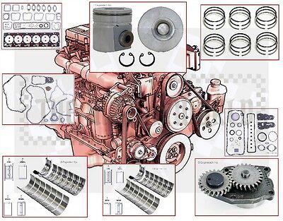 "1994 -98 VIN ""C,D"" Dodge Cummins 180 HP 5.9 Diesel engine Rebuild kit +oil pump"