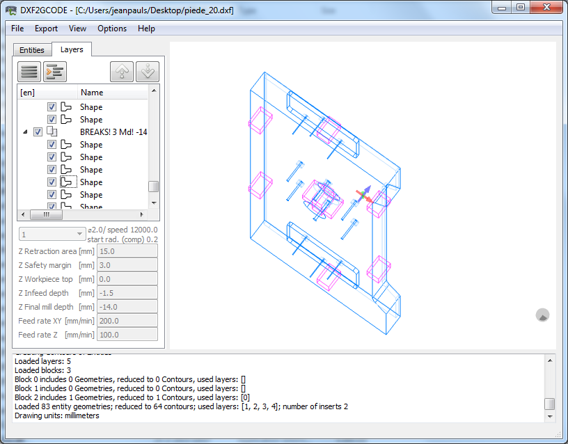 Details about dxf2gcode (Convert 2D DXF, PDF Drawings to CNC Machine  G-Code) Windows/Mac CD