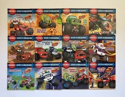 Blaze Monster Machines Childrens Books Phonics Step into Reading Lot 12