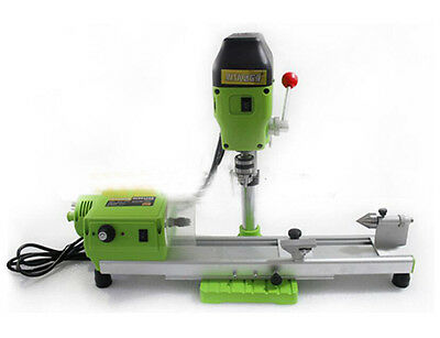 480w Mini Lathe Machine Diy Wood Lathe Mini Bench Drill 220vac For Wood Plastic