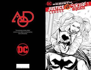 JUSTICE-LEAGUE-VS-SUICIDE-SQUAD-1-AOD-COLLECTABLES-WITTER-B-amp-W-LIMITED-COVER-DC