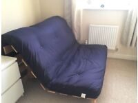 Super clean like new Small Double Futon Bed / 2 seat Sofa bed with mattress