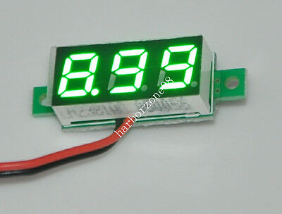 Micro 3 Digits 0.28 Led Dc2.7-30.0v Variable Precision Green Digital Voltmeter