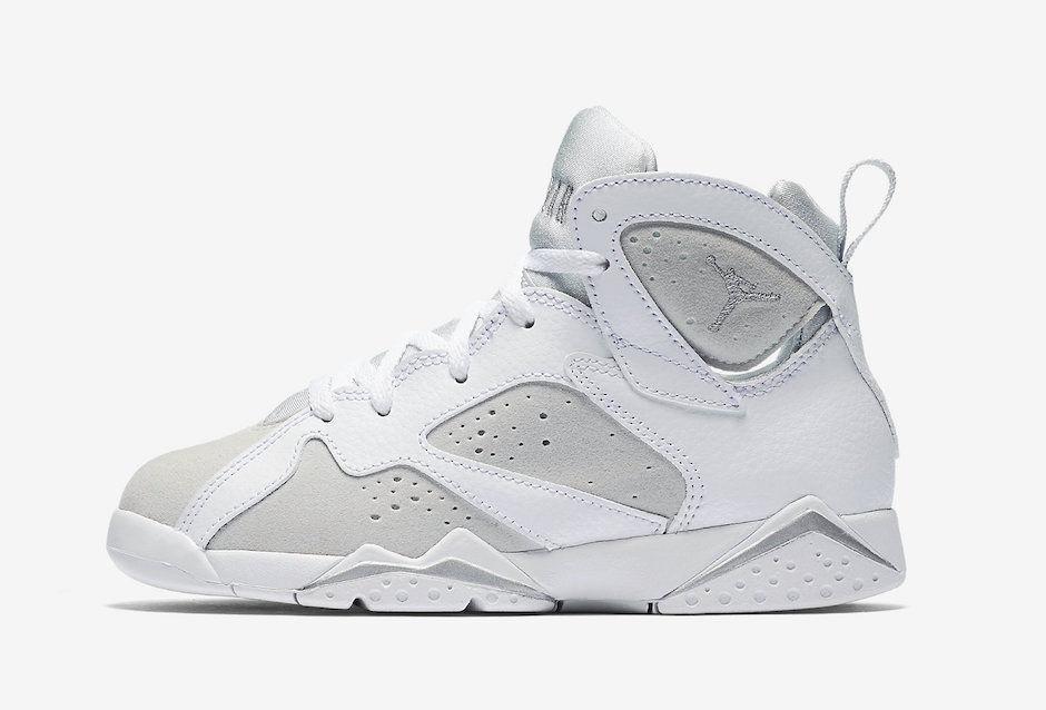 Nike Infant & Toddler's Air Jordan 7 RETRO BT Shoes White/Silver 304772-120 b