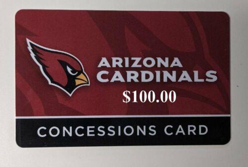 2021 Arizona Cardinals NFL $100 Concession Gift Card at State Farm Stadium AZ