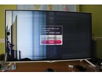 LG 40 -inch 4K Ultra HD TV broken screen