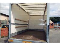 2 MAN & VAN 6am-11pm XL LUTON VAN TAIL LIFT hire urgent flat house office moves europe piano mopeds