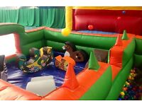 toddler soft play area with ball pond and air vents for balls bouncy castle party event hire