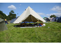 BELL TENT (4 METRE, STANDARD) - VERY GOOD CONDITION (WITH BAG AND LAMINATED INSTRUCTIONS)