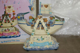 Wind up musical rocking teddy bear pirate ship