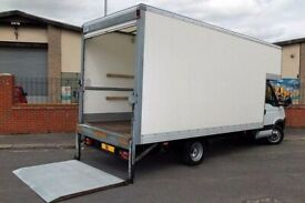 CHEAP VAN & MAN HOUSE/ OFFICE REMOVAL SERVICE FLAT MOVING STUDENT MOVERS TAIL LIFT TRUCK HIRE