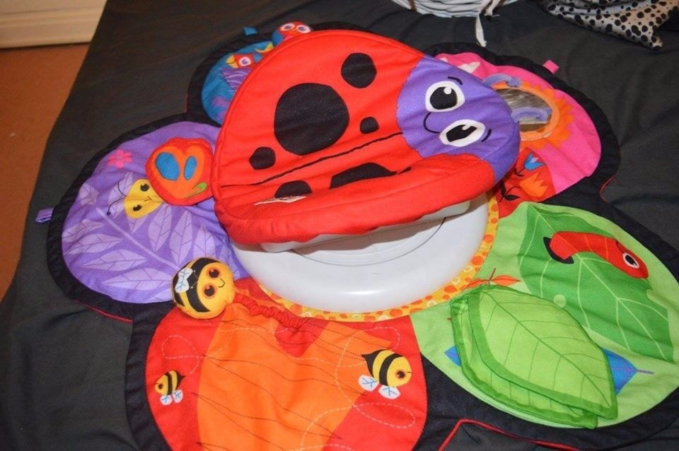 Lamaze spin and explore , tummy time play mat