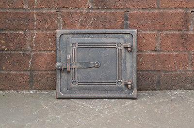 28.3 cm x 24.1 cm cast iron fire door clay/bread oven door/pizza smoke house