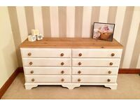 Newly Refurbished Shabby Chic Double Pine Chest Of Drawers***£149***FREE DELIVERY