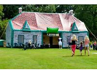 Inflatable Pub Hire, 12m x 6m - a fantastic novel attraction for any event.