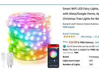 Smart WiFi LED Fairy Lights, 32.8ft 100LED -Work with Alexa/ Google Home
