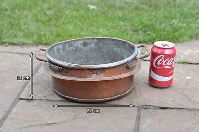 Antique copper pan old vintage copper pan solid copper pan - FREE DELIVERY