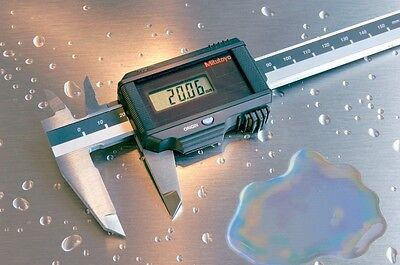 Mitutoyo Coolant-proof Solar Caliper Range 0 6 Digital Ip67 New