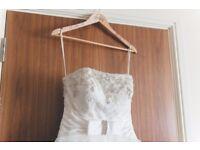 Ivory wedding dress UK10